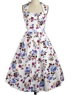 GET $50 NOW | Join RoseGal: Get YOUR $50 NOW!http://www.rosegal.com/vintage-dresses/vintage-halter-floral-fit-and-643186.html?seid=5505597rg643186