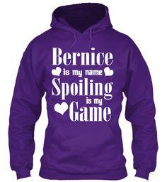 Bernice Is My Name Purple Sweatshirt Front