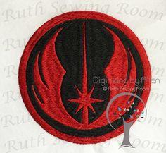 Star Wars Jedi Logo Symbol Applique and Embroidery Logo, Applique Embroidery Design This is NOT a PA