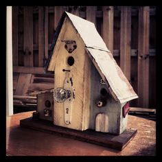 Condo Bird House made from pallets and bits and pieces from local salvage yard;)