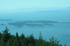 View from the top of Mt. Constitution, San Juan Islands, Washington