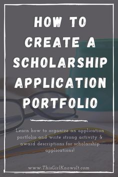 Applying to college scholarships? A scholarship application portfolio can be a great resource to refer to when filling out your scholarship applications. Learn what a scholarship application portfolio is, what to include in it, and how to write strong activity and award descriptions for your scholarship applications! | This Girl Knows It | www.thisgirlknowsit.com | #college #university #scholarships #scholarshipapplications #student School Levels, I School, Scholarships For College, College Students, Scholarship Applications, After School Tutoring, Disney College Program, Career Goals, Study Tips