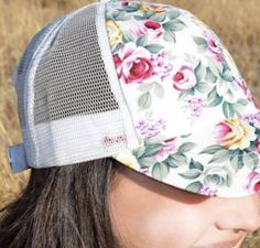 Rose Queen White Floral Hat $14.00 www.thegypzycowgurl.com