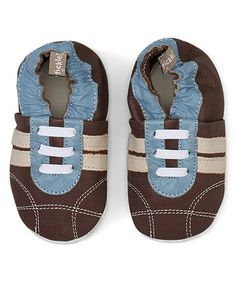 Another great find on #zulily! Brown & Blue Sneaker Leather Bootie #zulilyfinds