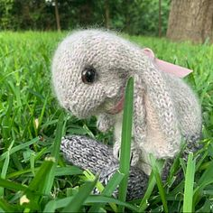 Your place to buy and sell all things handmade Knitted Bunnies, Knitted Owl, Knitted Animals, Baby Bunnies, Holland Lop, Peter Rabbit, Instagram Gallery, Owl Knitting Pattern, Lop Eared Bunny