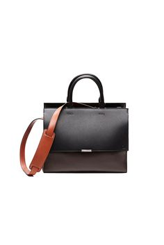 Truffle, black and rust sierra. Like the black enamel finish stud detail, thread tacks and metal bar : fall 2013 : Victoria Beckham