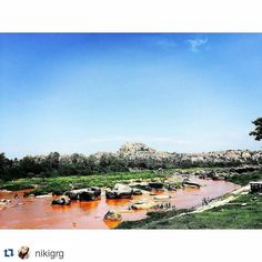 #Repost @nikigrg with @repostapp To get featured tag your post with #talestreet Such an eventful journey with my frens to Hampi .. the first sight of the tungabhadra river #hampi #travel #incredibleindia #Karnataka #explore #exploreindia #indiadiaries #indiaclicks #wandered #wanderlust #travelbug #travelindia #traveller #photography #travelogue #travelography #travelingram #instakarnataka
