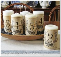 frenchy aged paper candle wraps, design d cor, diy home crafts, An easy and inexpensive project for your pillar candles Old Candles, Pillar Candles, Natural Candles, Unity Candle, Vintage Candles, Vintage Paper Crafts, Parisian Architecture, Photos Booth, Candle Craft