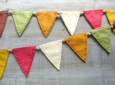 Wee Autumnal Bunting Flags