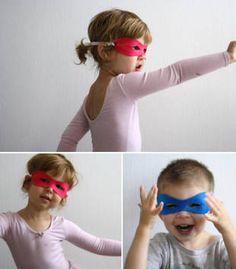 DIY Felt Super Hero Masks