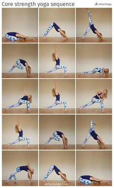 Core strenght yoga sequence