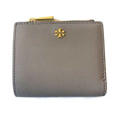 d60605a9d54 Details about Tory Burch Mini Wallet ~ French Gray Saffiano Leather NWT  Emerson
