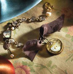Charming My Soul Resin Bracelet Tutorial - Create Mixed Media - Free awesome download kristen robinson #jewlerymaking