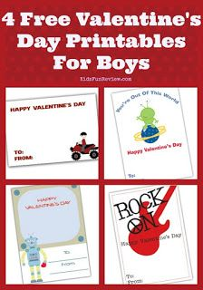 Are you looking for printable Valentines for boys? We have 4 of cute printable Valentine's Day cards for boys and the best part is they're free! Fun Valentines Day Ideas, Printable Valentines Day Cards, Free Printable Cards, Valentine's Day Printables, Valentines For Boys, Valentine Day Crafts, Happy Valentines Day, Valentine Activities, Valentine Party