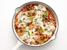 Recipe of the Day: Skillet Chicken Parmesan with Artichokes         Rethink your dinner with a speedy skillet meal that wisens up its ingredient list. Instead of cooking chicken yourself, swap in chopped rotisserie chicken as a time-slashing hack. Though the cooking process has been pared down, all of the elements of saucy, cheesy chicken parm are here — and it hits the table in a flash.