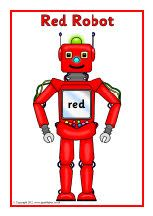 Robot colour posters (SB8959) - SparkleBox