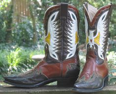 Bodacious Boots  A great pair of Saturday nite specials. Cowboy boots made by Don Quijote in 1978. Cristobal Romero managed the shop in Leon...