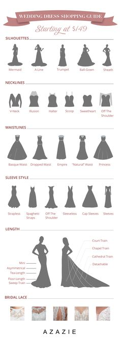 "We're here to help you pinpoint the wedding dress silhouette that brings out your best. Let us match you with the perfect dress silhouette to help you say ""I do."" wedding drawing Ultimate Guide To Wedding Dresses Wedding Dress Types, Dream Wedding Dresses, Bridal Dresses, Bridesmaid Dresses, Wedding Dress Drawings, Wedding Drawing, Wedding Dress Petite, Christmas Wedding Dresses, Wedding Dress Necklines"