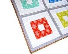 Baby quilt, boy quilt, crib quilt, toddler blanket, playmat, patchwork throw, Moda fabric
