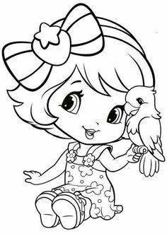 Strawberry Shortcake Cute Coloring Pages Sheets For Kids Girls
