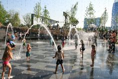 Cumberland Park / Hargreaves Associates - Water Jets