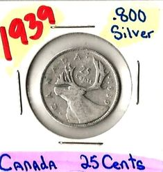 Item specifics    									 			Year:   												1939 & 1940  									 			Circulated/Uncirculated:   												Circulated    									 			Composition:   												Silver   							 							  1939 & 1940 Canadian Silver Quarters, 8 Unused Stamps Rob't Kennedy, MLK   A-45 ...