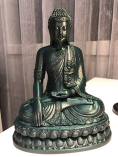 Budha 3d printed in Metalic Green PLA by Micheal O'Grady