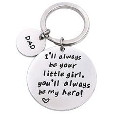 Sentimental dad quotes key chain. Christmas Gifts For Dad From Daughter.