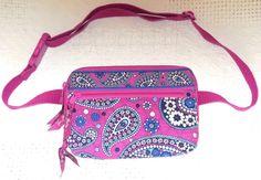 Vera Bradley BOYSENBERRY Travel Belt Waist Bag Fanny Pack Quilted Cotton #VeraBradley #FannyPack