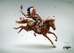 Print ad: Samsung Vacuum Cleaners: Red Indian