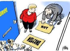 not welcome © Tom Janssen,The Netherlands,refugees Europe,, Merkel East Europe refugees,