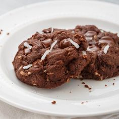 Straight from the kitchen of blogger Dessert For Two, these insanely rich Dark Chocolate Double Coconut Cookies are too hard to resist.
