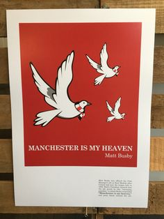 Manchester is my Heaven(3 Birds) A3 print on 300gsm art card by TheNo71LegendRooms on Etsy https://www.etsy.com/uk/listing/463167814/manchester-is-my-heaven3-birds-a3-print