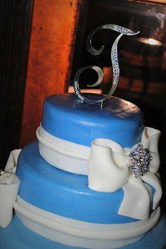 Something Blue - Wedding cake