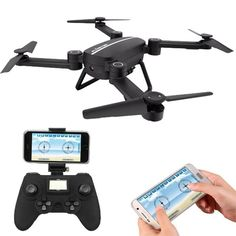 0.3MP camera Folding RC Quadcopter 6 Axis Gyro Drone with camera HD Wifi Real-time Transmission FPV RTF 2.4G Helicopter