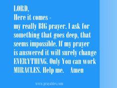 Big prayer