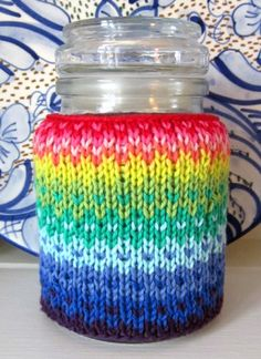 knitted jar cover