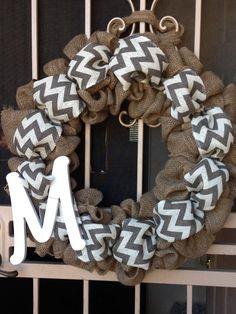 Burlap wreath. To order email raammunoz@gmail.com