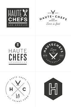 It's always so fun seeing the variations of a logo during the development stage! Process 10 : haute chefs