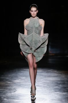 Iris van Herpen Fall 2016 Ready-to-Wear Fashion Show http://www.theclosetfeminist.ca/  http://www.vogue.com/fashion-shows/fall-2016-ready-to-wear/iris-van-herpen/slideshow/collection#14
