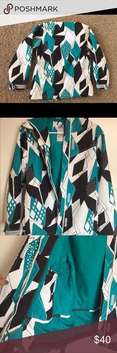 Women's Ski/Snowboard Jacket Sm Empyre Like new ski/snowboard technical outerwear jacket. Size small. 10,000 MM waterproof. 100% authentic apparel. Used only one month, size did not fit. Color: turquoise blue/black/white empyre Jackets & Coats Utility Jackets