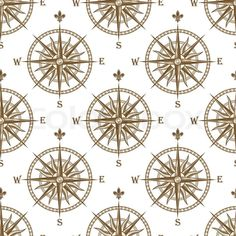 Compass seamless background pattern ... | Stock vector | Colourbox