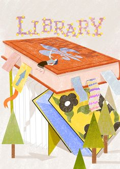 library on Behance