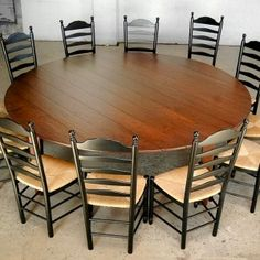 22 best large round dining table images large round dining table rh pinterest com extra large round kitchen tables large round kitchen table seats 8
