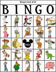 Bingo de Personajes Disney, para Imprimir Gratis.   Ideas y material gratis para fiestas y celebraciones Oh My Fiesta!