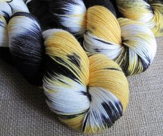 Crikeys Batman - SW Merino & Nylon Fingering Sock Yarn, Hand Dyed by GnomeAcres, $21.00