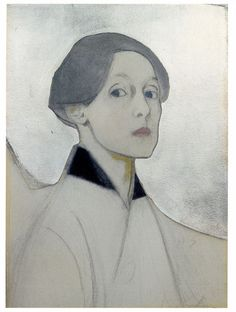 Helene Schjerfbeck, Self Portrait on Silver Ateneum Art Museum, Finnish National Gallery, Helsinki © VG Bild-Kunst, Bonn 2014 Helene Schjerfbeck, Helsinki, Figure Drawing, Painting & Drawing, Encaustic Painting, National Gallery, Beauty In Art, Portrait Art, Portraits