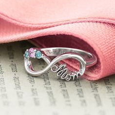 A mother's love last forever. Show Mom just how much she means to you with a one-of-a-kind Mom Infinity Ring! Click the link in our bio to personalize yours.   . . . #jewelry #infinity #infinityring #mom #mothersday #cute #parenting #momgoals #kids #newbaby #newmom #mommyblogger #momblother #bestmomever #mother #heart #birthstone #personalized #unique #family #momgoals http://jwl.io/e1e25