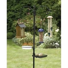 Wild Birdfeeder Bird Bath Seed Feeder Station Hanging Garden Pole Hummingbird 6'