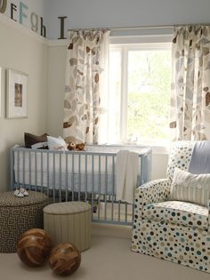Nice curtains and a different style of wall treatment